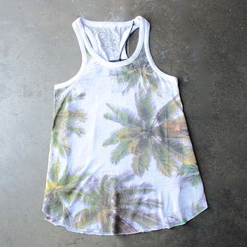chaser - las palmas palm tree burnout tank