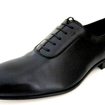 Salvatore Ferragamo Mens Black Leather Oxford Shoes Made in Italy