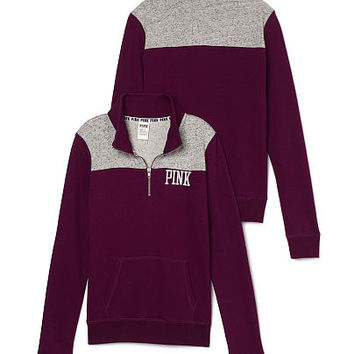 Campus Quarter-Zip - PINK - Victoria's Secret