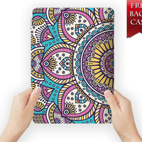 ipad mini case leather smart cover aztec tribal flower for ipad mini ipad air 1 2 3 retina display aztecflower-09pattern09