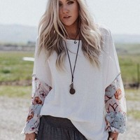 Patchwork Blossom Thermal Top
