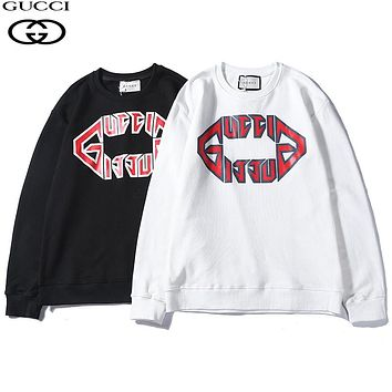 GUCCI Woman Men Fashion Print Top Sweater Pullover