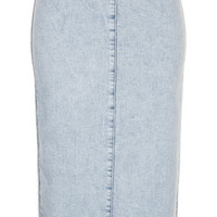MOTO ACID WASH MIDI SKIRT