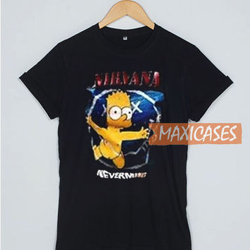 Nirvana Simpsons Nevermind T Shirt Women Men And Youth Size S to 3XL