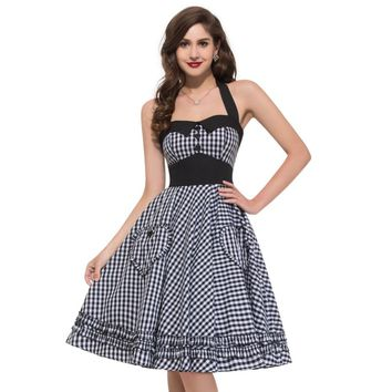 50s rockabilly Full Circle Pinup backless dress
