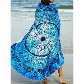 Boho Mandala Blanket Round Roundie Beach Throw Tapestry Indian Toalla Playa Mandalas Hippy Beach Towel Round Beach Yoga Mats