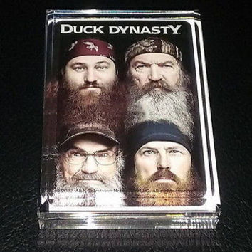 Duck Dynasty TV Show Acrylic Executive Display Piece or Desk Top Paperweight