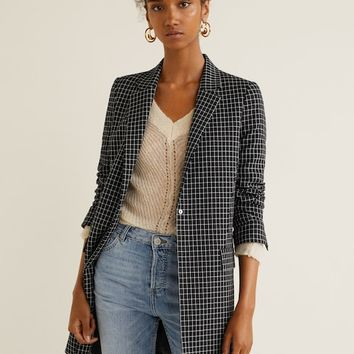 Lapels structured coat - Women | MANGO USA