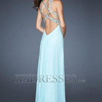 Sheath/Column Straps  Sweetheart Chiffon Prom Dress - IZIDRESSES.COM