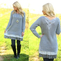 Shades Of Grey Sweater Dress