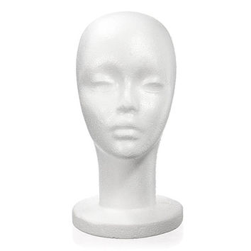 Female Foam Styrofoam Mannequin Stand Display Cap Wig Head Holder Model