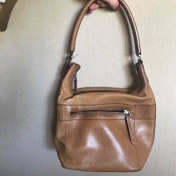 GUCCI Vintage authentic Beige Leather Small shoulder Bag, Women