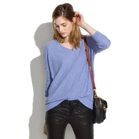 Slub V-Neck Sweater