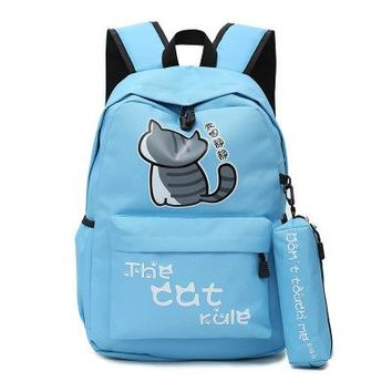 Anime Backpack School kawaii cute Neko Atsume Cosplay Japanese cute student campus backpack leisure travel backpack birthday gift AT_60_4