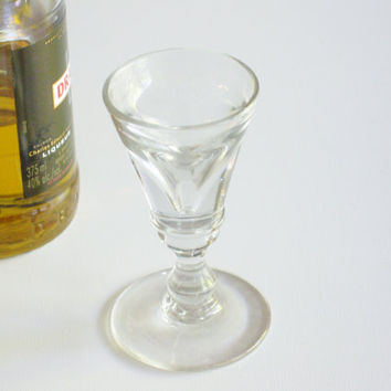Antique Deceptive Dram Glass - Liqueur Glass - Conical Bowl - English Barware or Stemware - Circa 1820