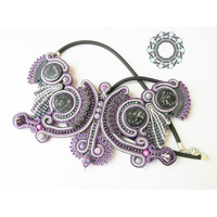 Soutache pendant - Tender December