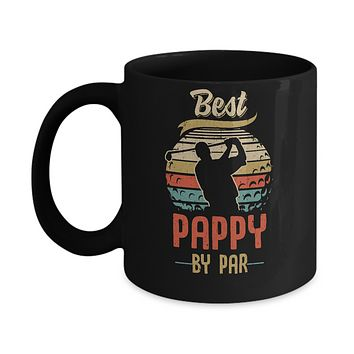 Vintage Best Pappy By Par Fathers Day Funny Golf Gift Mug
