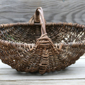 French Vintage GATHERING Basket.