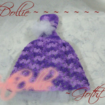 Purple Royal Wedding Prom Quinceanera Princess Dress for Barbie clothes(Crocheted) - OOAK by GothDollie