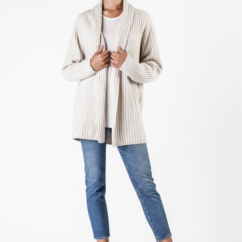 The Elder Statesman  - Ivory Cashmere Cardigan