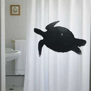 sea turtle Shower Curtain tortoise