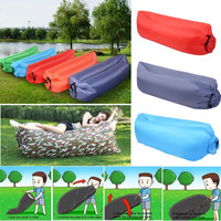 Inflatable Air Sofa Bed Lazy Sleeping Camping Bag Beach Hangout Couch Windbed