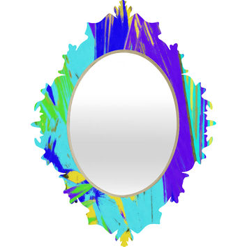Rosie Brown Blue Palms 1 Baroque Mirror
