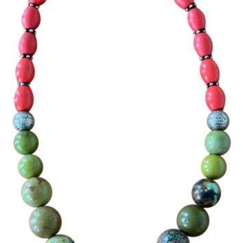 Vintage Multicolor Chinese Necklace
