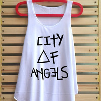 city of angels shirt tank top singlet clothing vest tee tunic - size S M