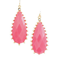Pop of Color Drop Earrings in Neon Pink