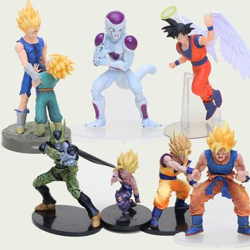Japanses Dragon Ball Z action figure brinquedos Son Goku Gohan Cell trunk PVC Action Figure Collectible Model Toy anime