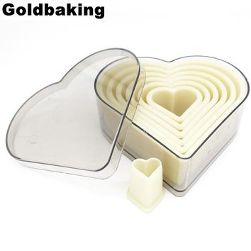 7 Pieces Heart Cookie Cutter Set  Biscuit Cutter Mold Nylon Moulds