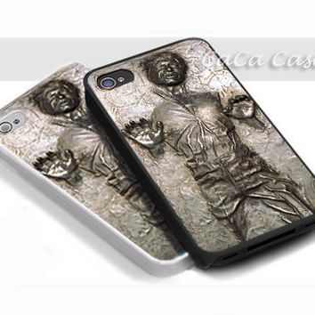Han Solo Frozen In Carbonite - Print on hardplastic for iPhone 4/4s and 5 case, Samsung Galaxy S3/S4 case.