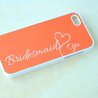 Personalized Phone Cases, Wedding Phone Cases, Bridesmaid, Jewel Tone, iPhone 6 Cases, iPhone Cases, Orange, Fall Wedding