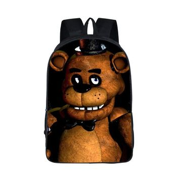 For Teen  Backpacks   At Backpack Bonnie Fazbear Foxy Freddy Chica Backpack  Kids Bags Boys Girls School Bags
