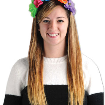 day of the dead flower headband Case of 12