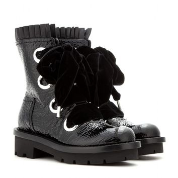 alexander mcqueen - patent-leather boots