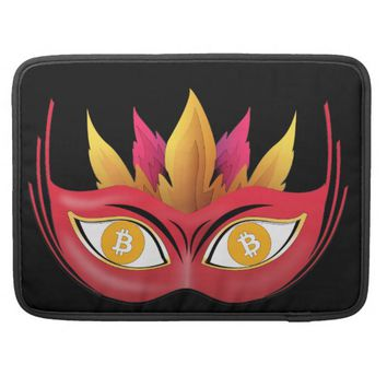 Cool Bitcoin eyes carnival mask Design Sleeve For MacBook Pro