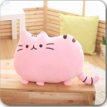 40*30cm 6 Colors Decorative pillows Soft Plush Stuffed Animal Doll Anime Toy Cute cat pillow for Girl Kid Cute Cushion