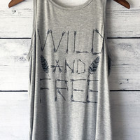 Wild and Free Slit-Back Tank