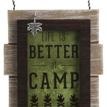Camping People Self Standing Plaque