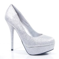 Jones Silver Glitter Almond Toe Platform Stiletto Dress Formal Dance Special Occasion High Heel-7