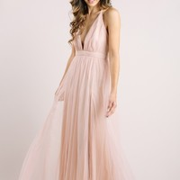 Arabella Blush Tulle Maxi Dress