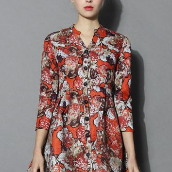 Extra Lavish Floral Jacquard Dress