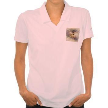 Floral Fantasy Pattern Abstract Fractal Art Polo T-shirt