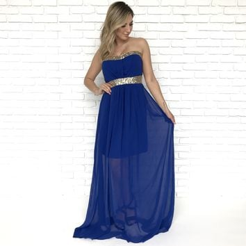 Belle Of The Ball Blue Maxi Dress