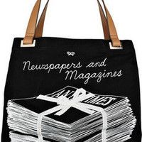 Anya Hindmarch|Newspapers and Magazines canvas tote|NET-A-PORTER.COM