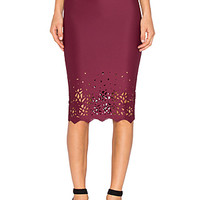Dakota Skirt in Merlot