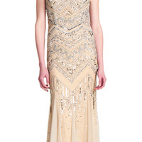 Strapless Beaded Gown - Adrianna Papell