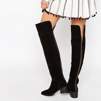 ASOS KING FISHER Suede Over The Knee Boots at asos.com